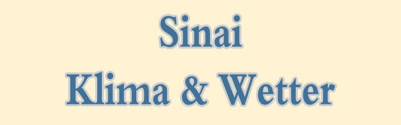 Klima und Wetter auf der Sinai-Halbinsel