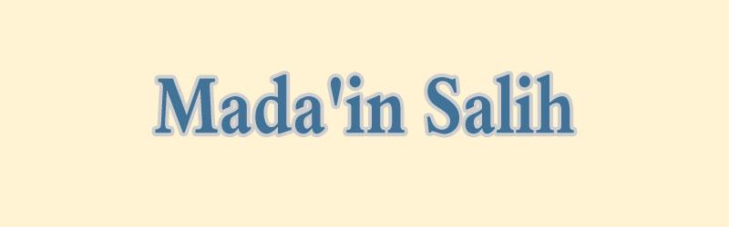 Mada'in Salih – Felsenstadt in der Wüste